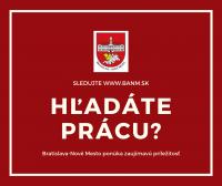 Mestská časť Bratislava-Nové Mesto vyhlasuje výberové konanie na obsadenie funkcie vedúceho referátu dopravy a cestného hospodárstva